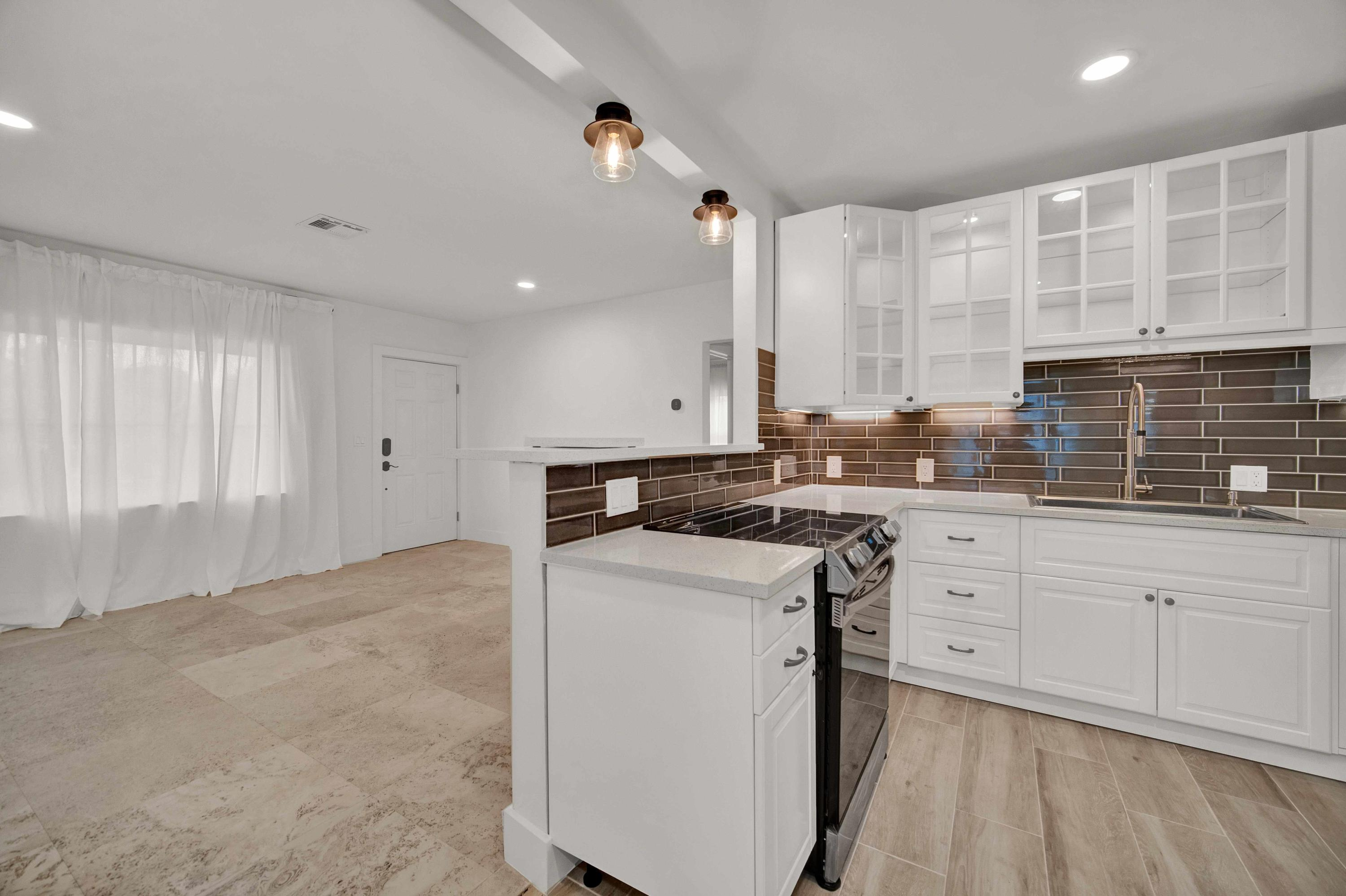 Kitchen to Front Entry View