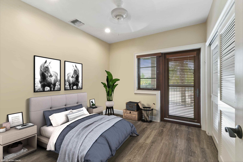 Virtually Staged Grooms Apt Bedroom