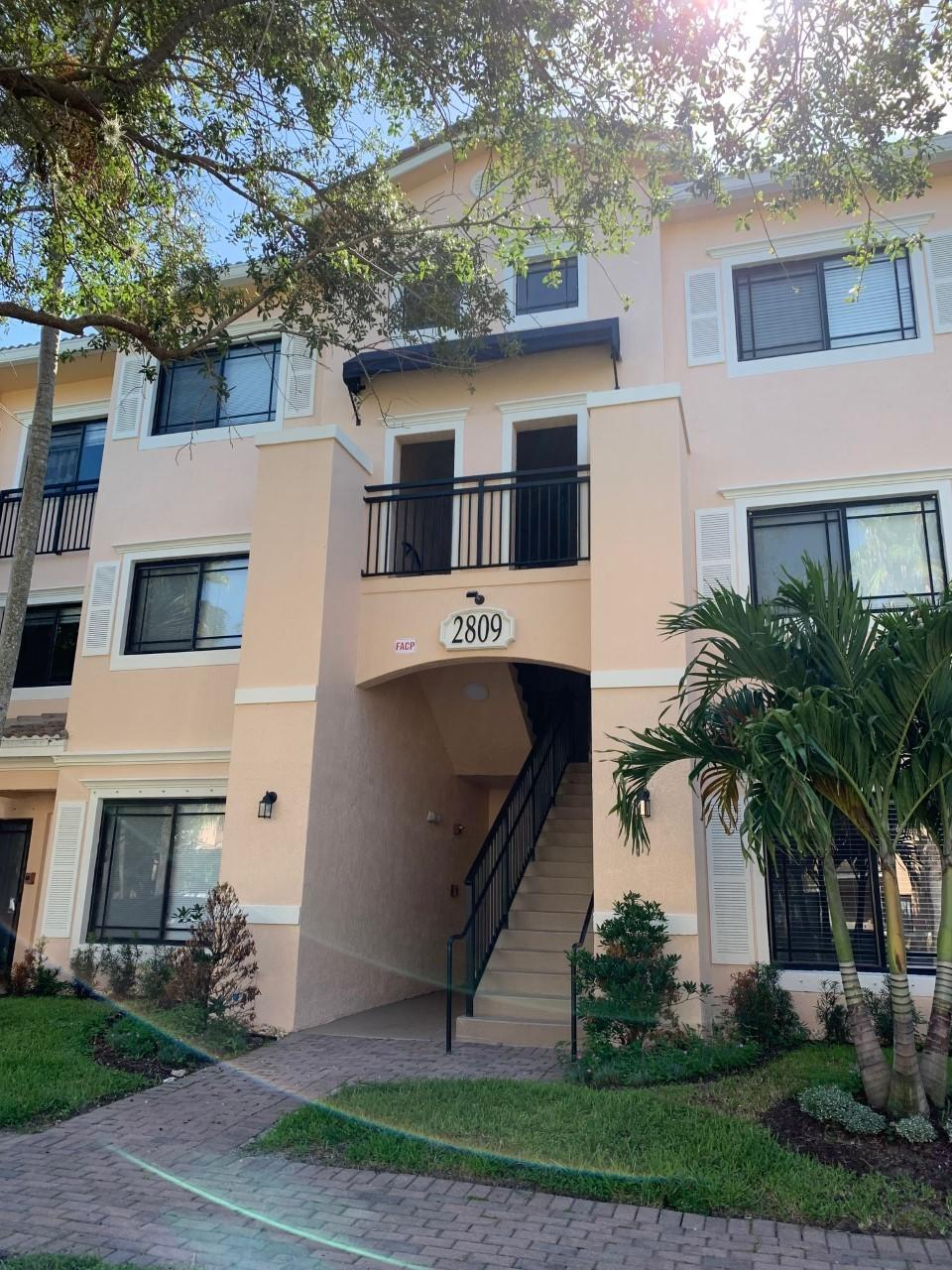 **2BR/2BA THIRD FLOOR CONDO WITH NEW VINYL WOOD FLOORING BEING INSTALLED, NEWER AC SYSTEM & GRANITE KITCHEN COUNTERS** **WALKIN CLOSETS** **SMALL UTILITY ROOM WITH WASHER & DRYER** **HURRICANE IMPACT GLASS** **UNIT COMES WITH STORAGE CLOSET** SCREENED-IN BALCONY**