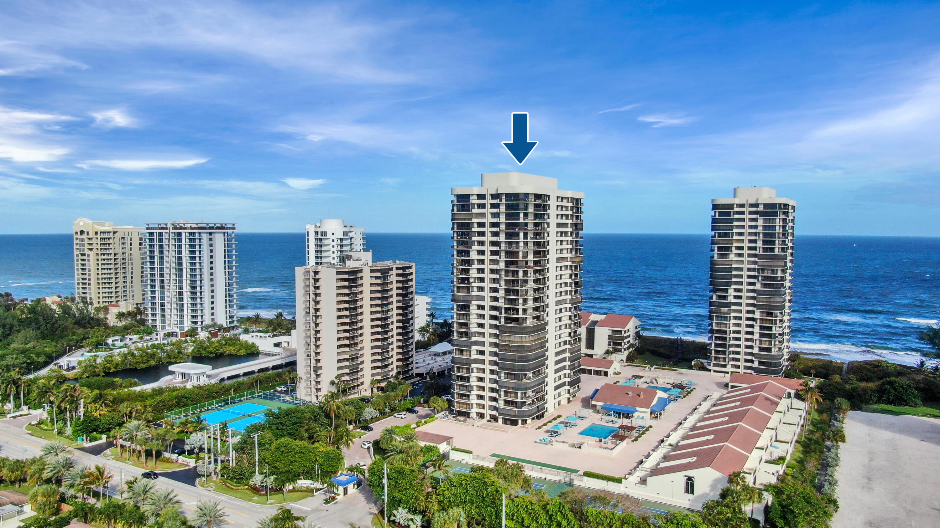 THE UNIT IS NOW VACANT!! Where can you find an OCEANFRONT CONDO with this size for this price? Partial Ocean View and open floor plan. This building, Martinique II, has a manned gate, 24-hour security, concierge, 2 pools, Bocce Courts, gas grills, billiards, tennis courts, fitness center, onsite restaurant, library, and garage parking. This Gorgeous 3 bedroom 4 bathroom condo in Martinique II is priced for an end-user to come and put their personal final touches and/or renovations and still be under MARKET VALUE!! Perfect RARE Opportunity!
