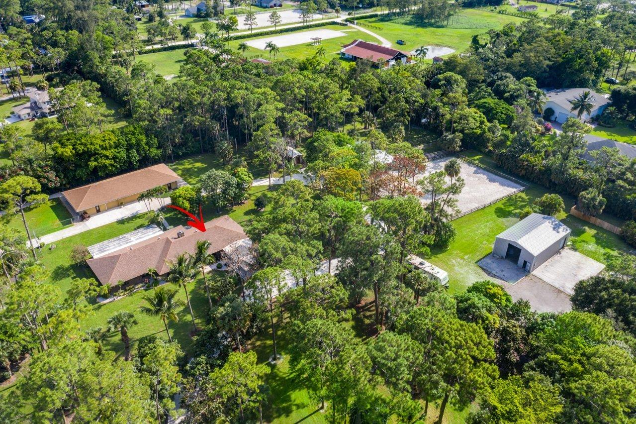 aerial/main house location