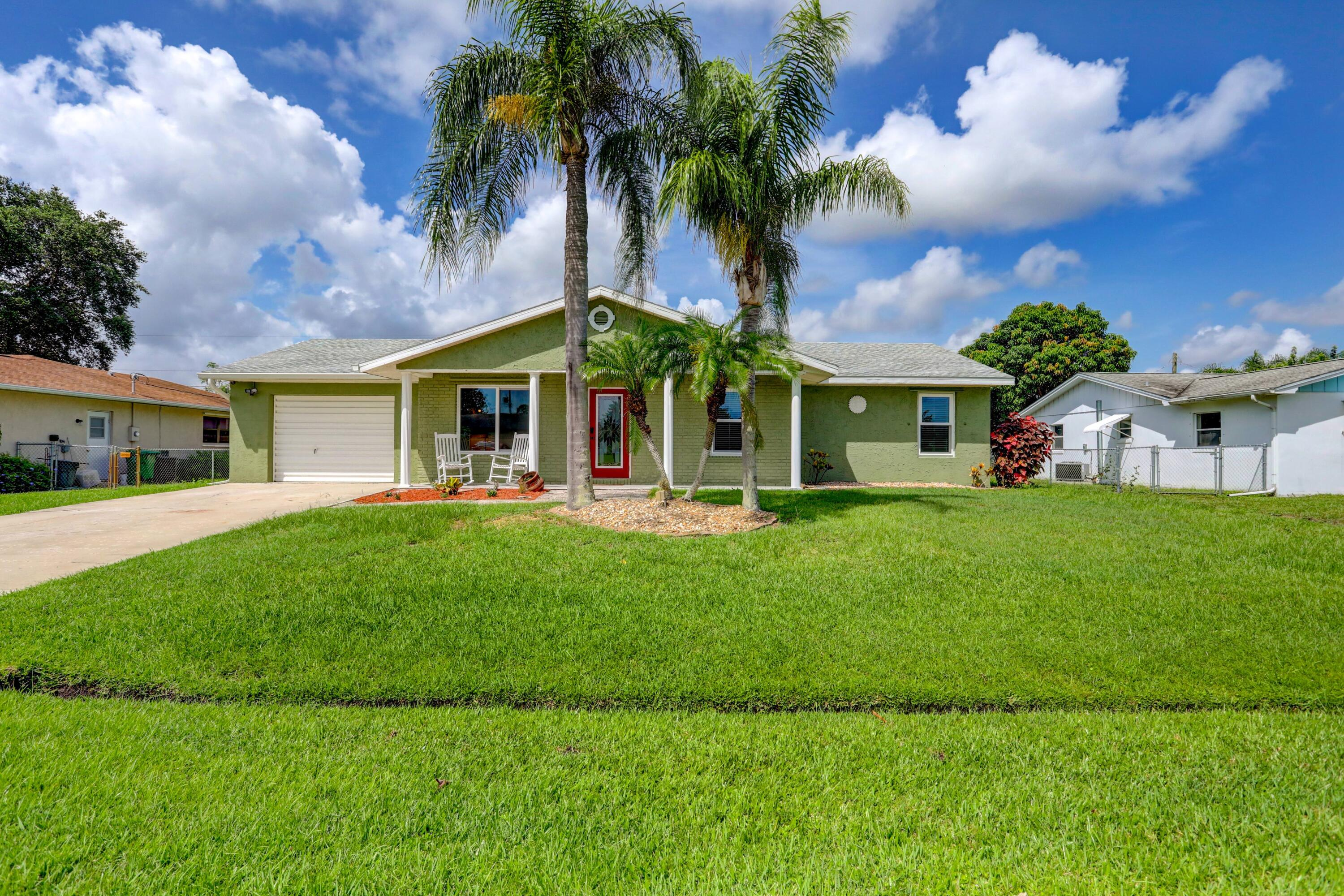 Beautiful 4/3 saltwater pool home with twin master suites, huge kitchen for entertaining, new roof 2019, 2 new A/C units 2017, new eco friendly solar panels (avg monthly electric bill $20), new impact windows, huge enclosed patio, security system, security lighting, all new high end appliances and a whole home generator plug in garage professionally wired to panel.  New master added to home with walk-in shower and California closet.  Must see home with driveway that fits 6 cars.