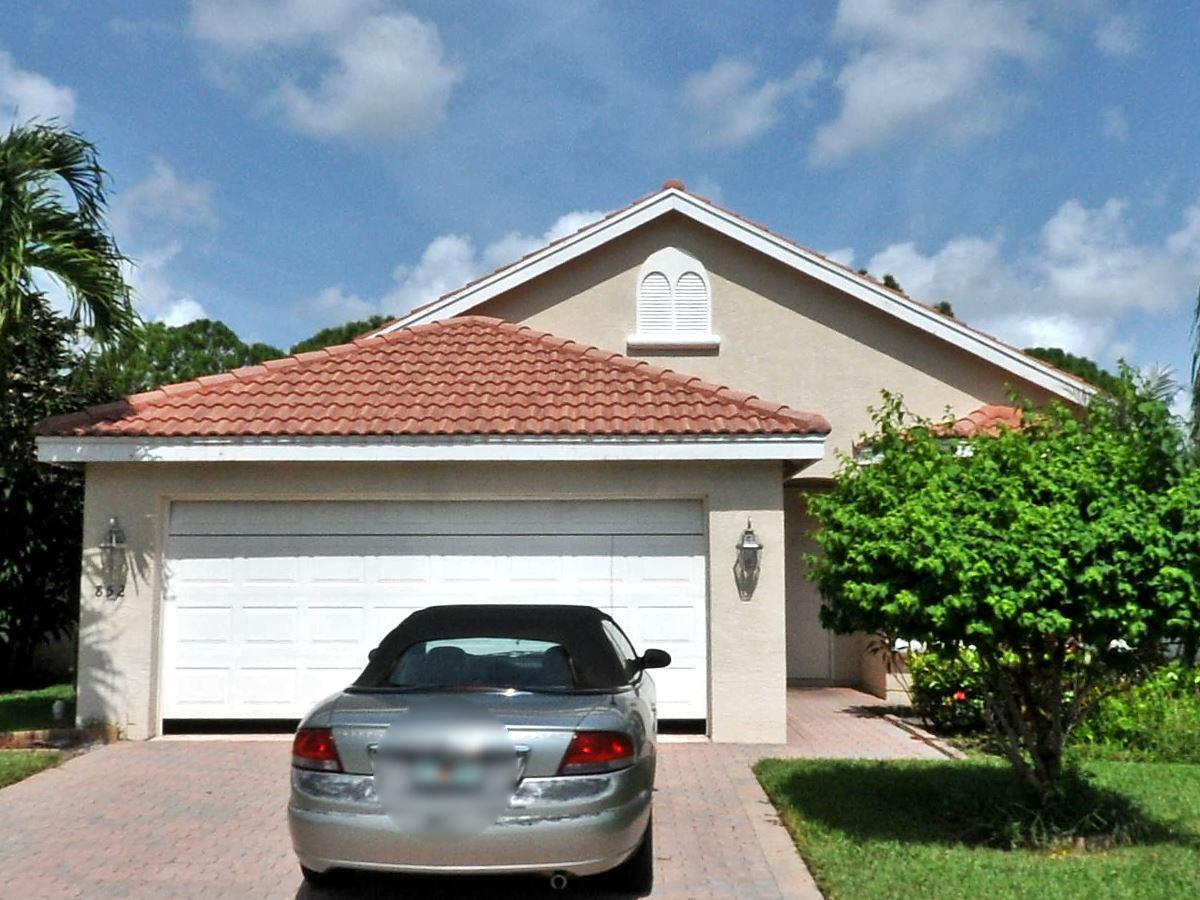 3 bedrooms, 2 full baths, 2 car garage with openers, screened pool with a Jacuzzi. Barrel roof tilesLOW MAINTENANCE GATED WITH COMMUNITY POOL,SPA, TENNIS,BOATING ALSO A PRIV. HEATED POOL AND SPA LG LANAI 18'' DIAG TILE OPEN SPLIT PLAN STAINLESS APPL.  Kitchen needs TLC...sellers are leaving for new buyers to Renovate kitchen cabinets & countertops..Hence kept the price lowered. Grass is mowed by the HOAFHA/VA LOAN acceptable with 5% deposit and POF for upfront money required later on for difference in appraiser, if any. Financial strong parties onlySOLD AS IS also...no repairs to be done by seller.All info here deemed reliable BUT must be confirmed by the buyers