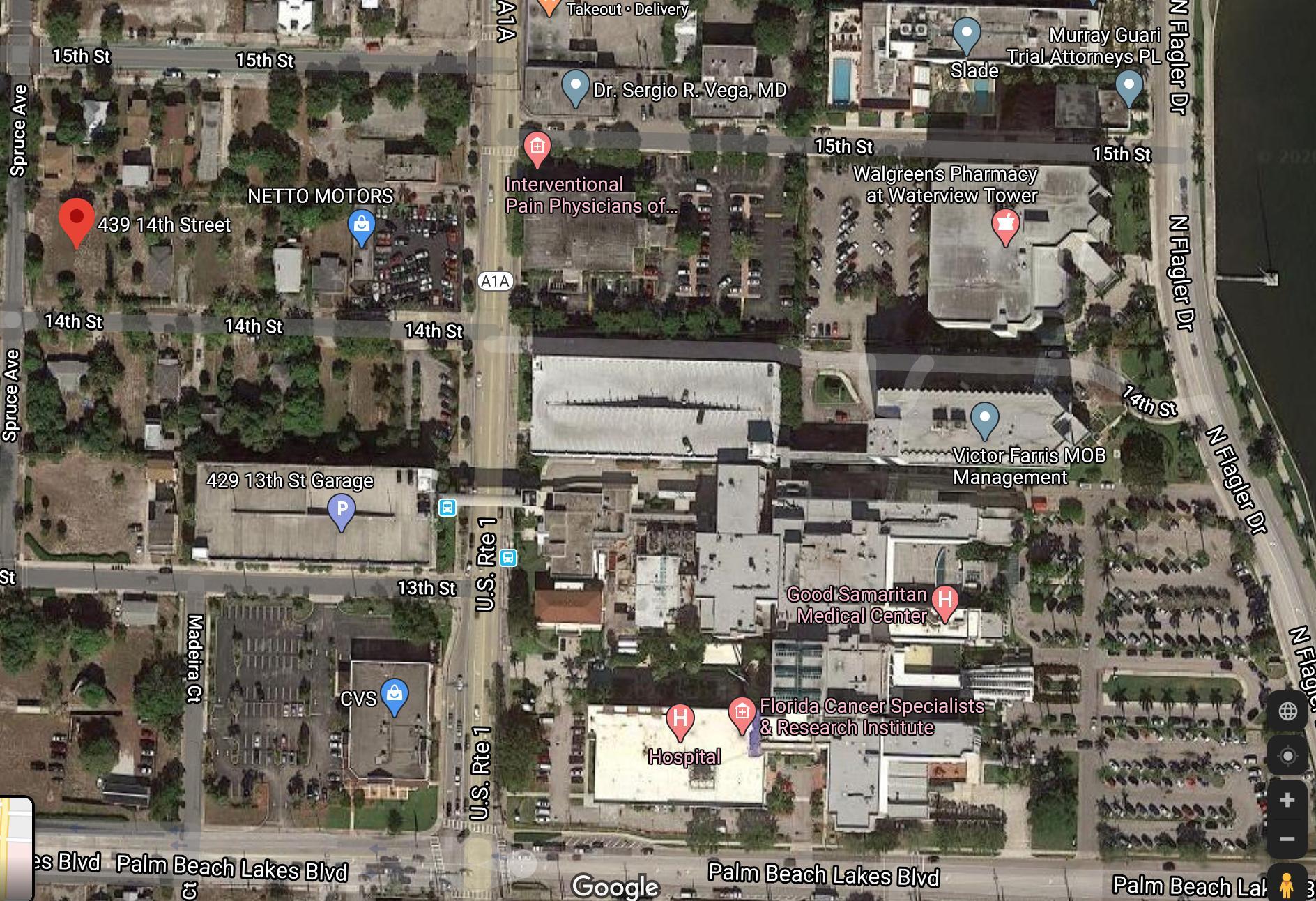 Aerial near Good Sam Hospital
