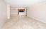 Open Floor plan, marble floors in living area, crow molding