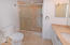Marble bath with walk in shower