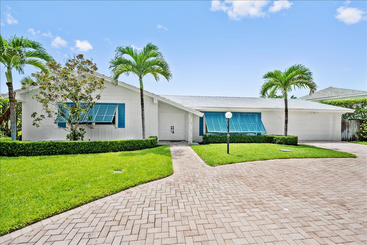 All one level attractive beach cottage on oversized lot just steps to the secured beaches within Jupiter Inlet Colony. This 3 Bedroom, 3 Bath, CBS Single story pool home has just been updated with all impact windows and doors, new flooring, updated fixtures, new countertops, and freshly painted inside and out. The spacious covered patio overlooks the pool and oversized backyard. The lot is about 15% bigger than the standard sized lot in Jupiter Inlet Colony, which allows for home or addition to be constructed. Priced at land value, but it comes with a very nice home!