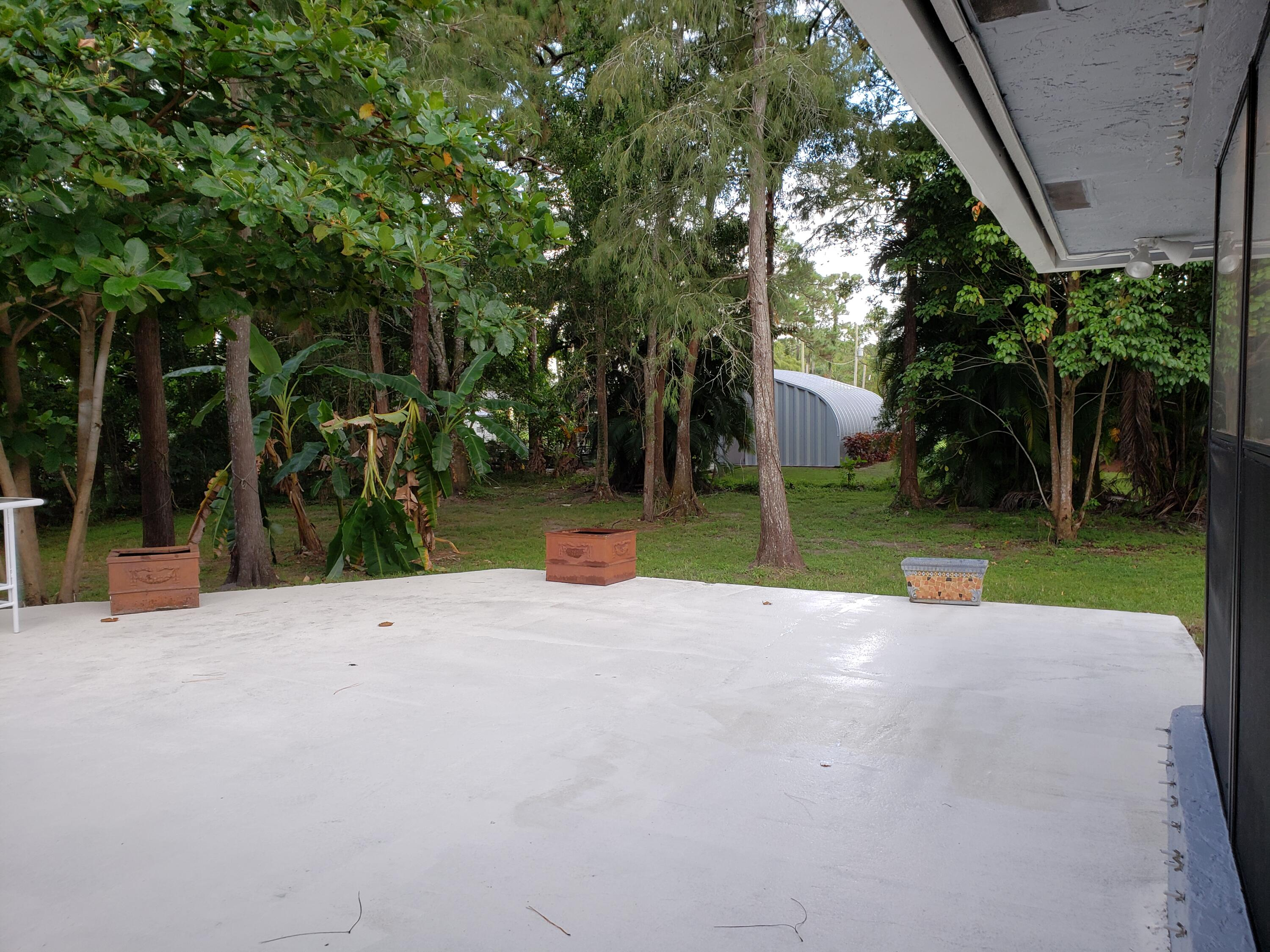 View from Breakfast Area to Back Patio