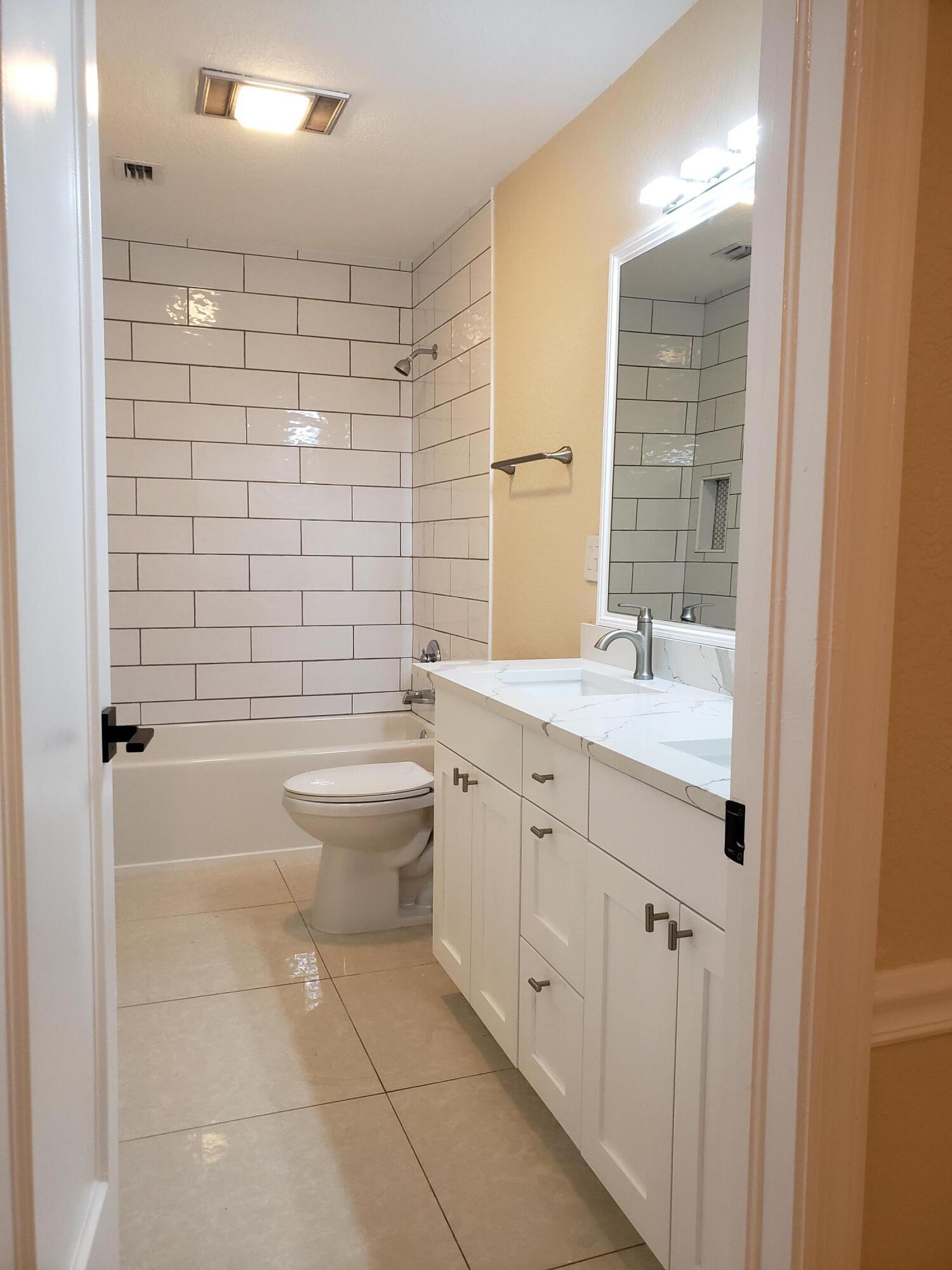 Kids Bath, New Tub,Cabinets