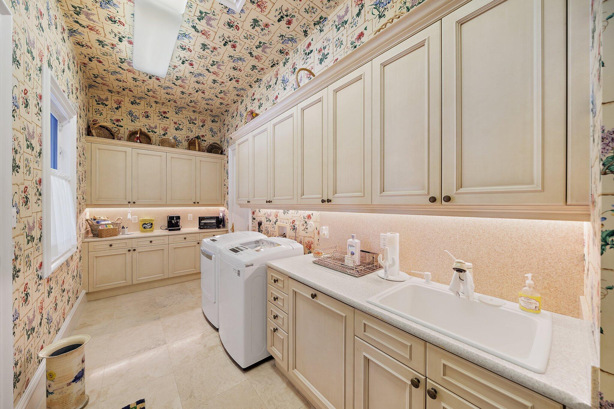 lower laundry room