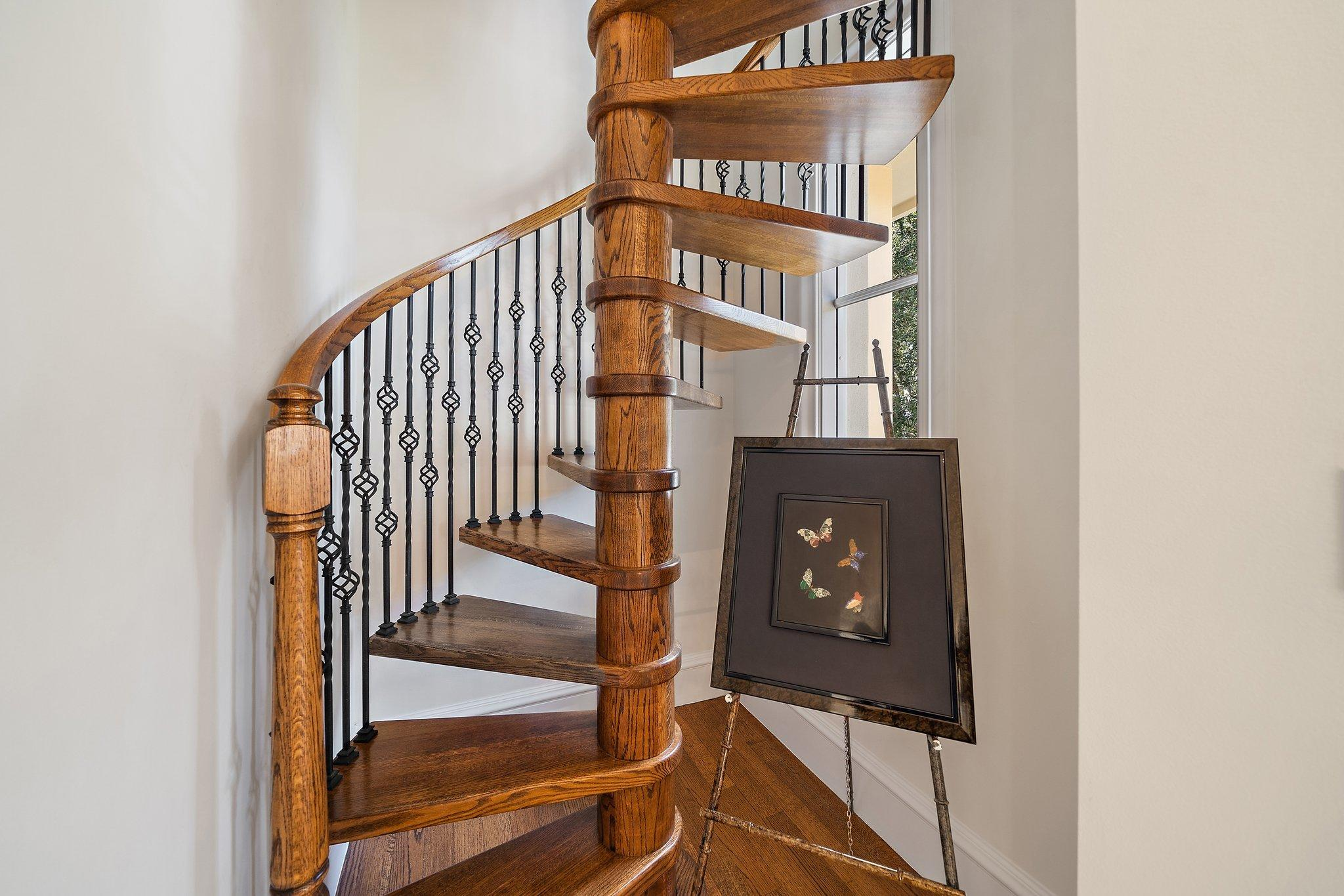 stairs to grand attic