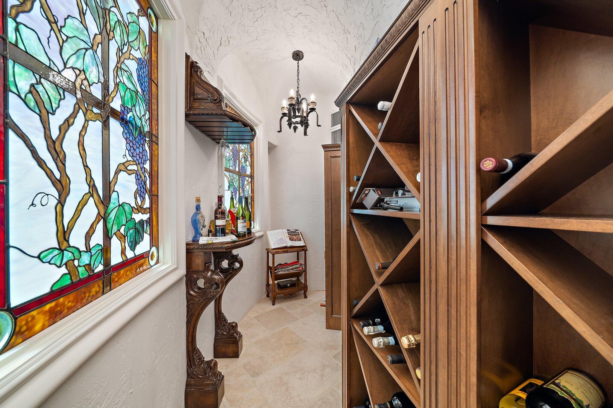 walk in wine cellar