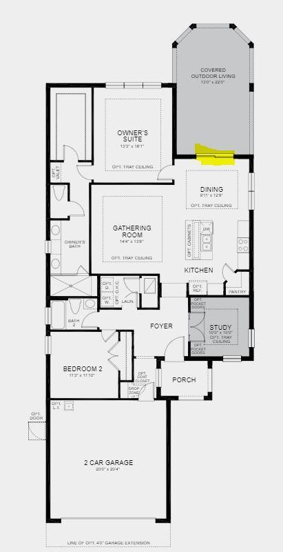 12765 SW Ambra St Floorplan