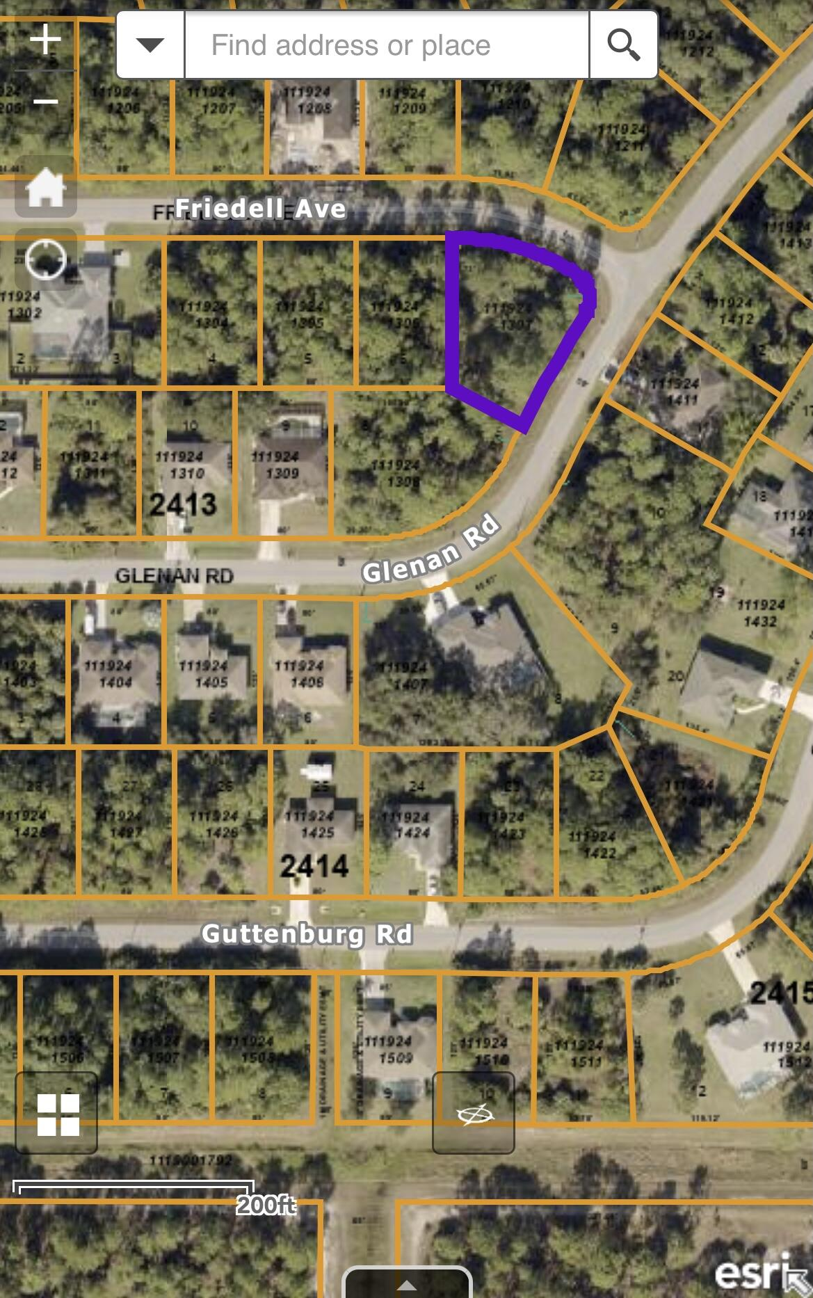 Glenan Rd Map