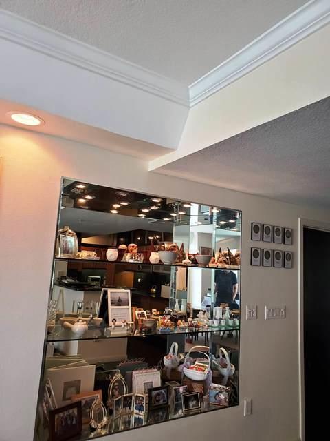 custom display nook in living room