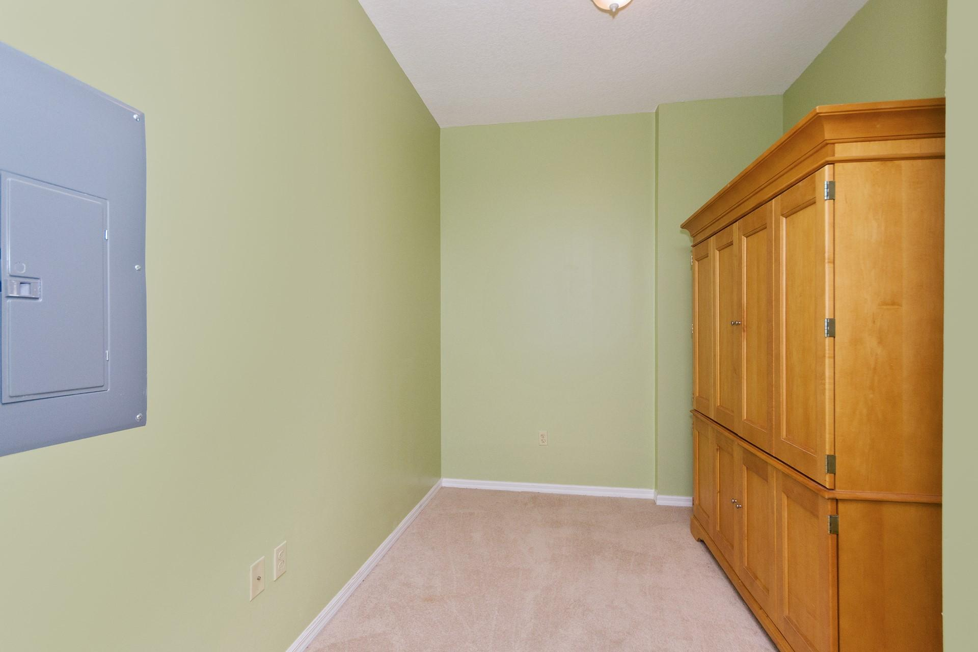 Flex Room before new flooring