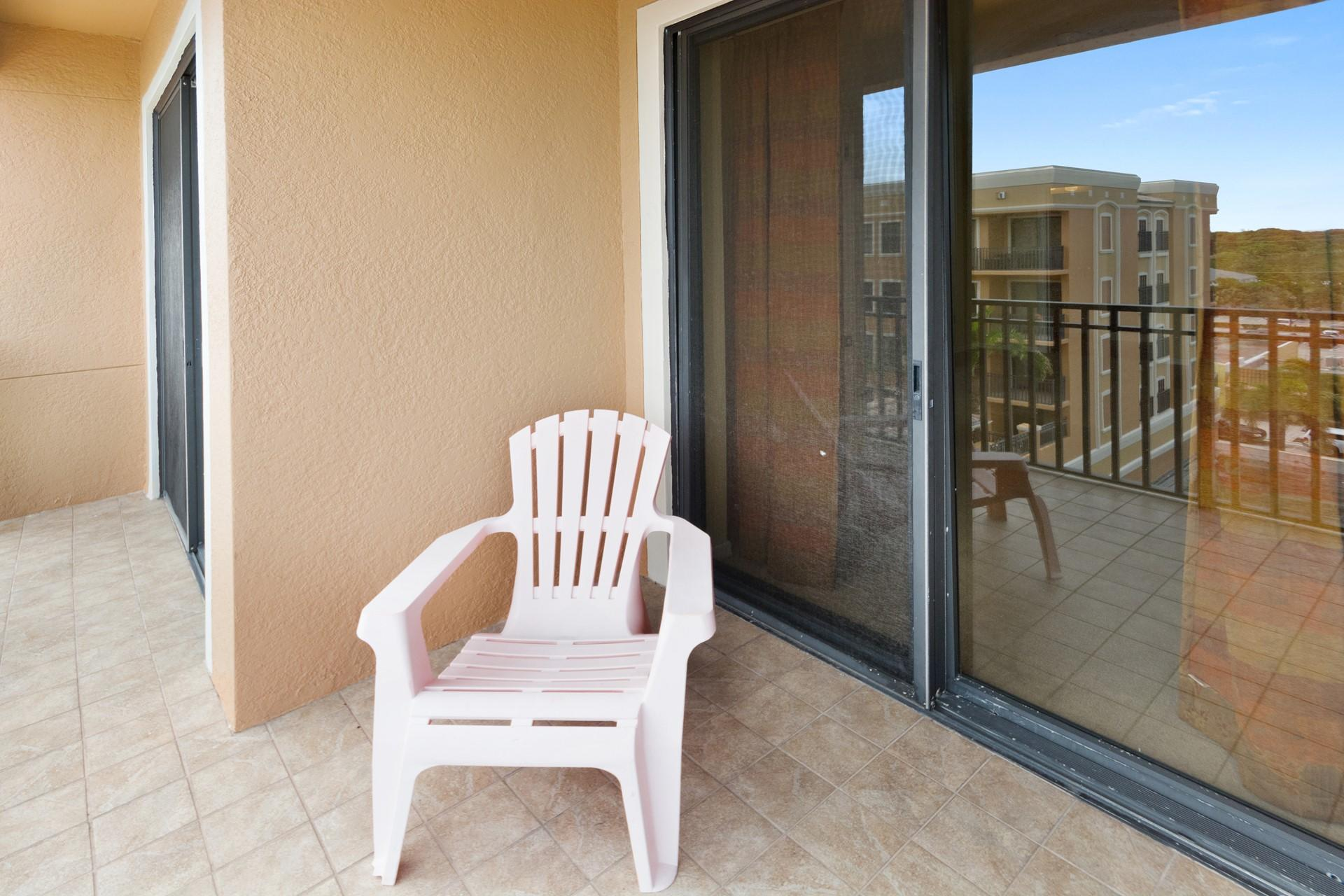 Balcony to enjoy views