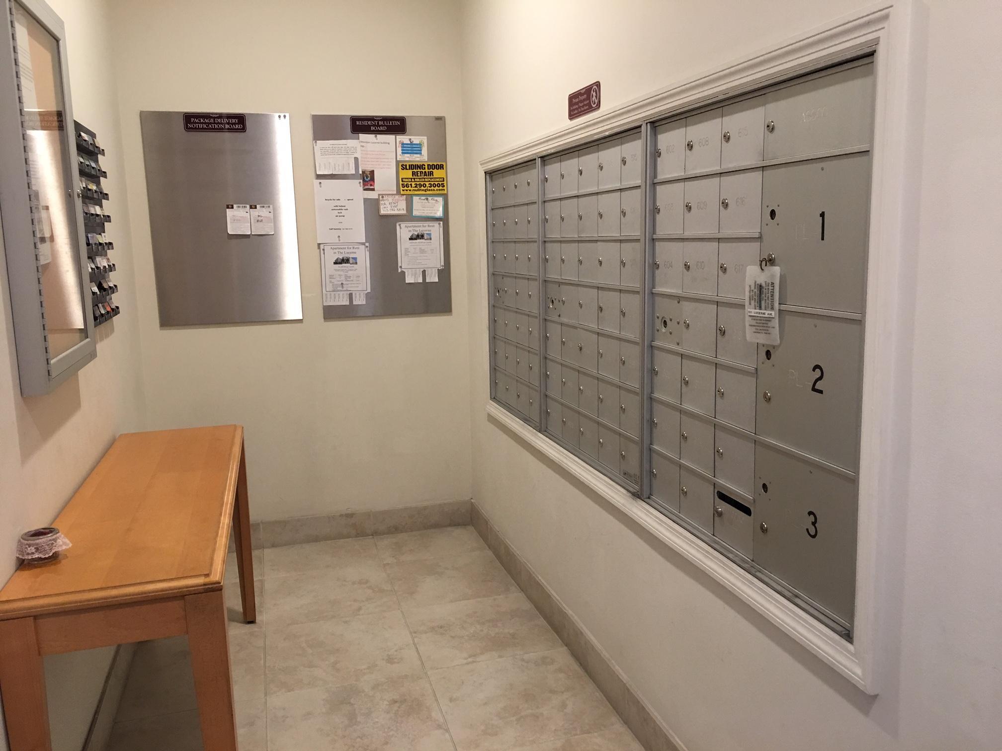 The Lucerne mail room