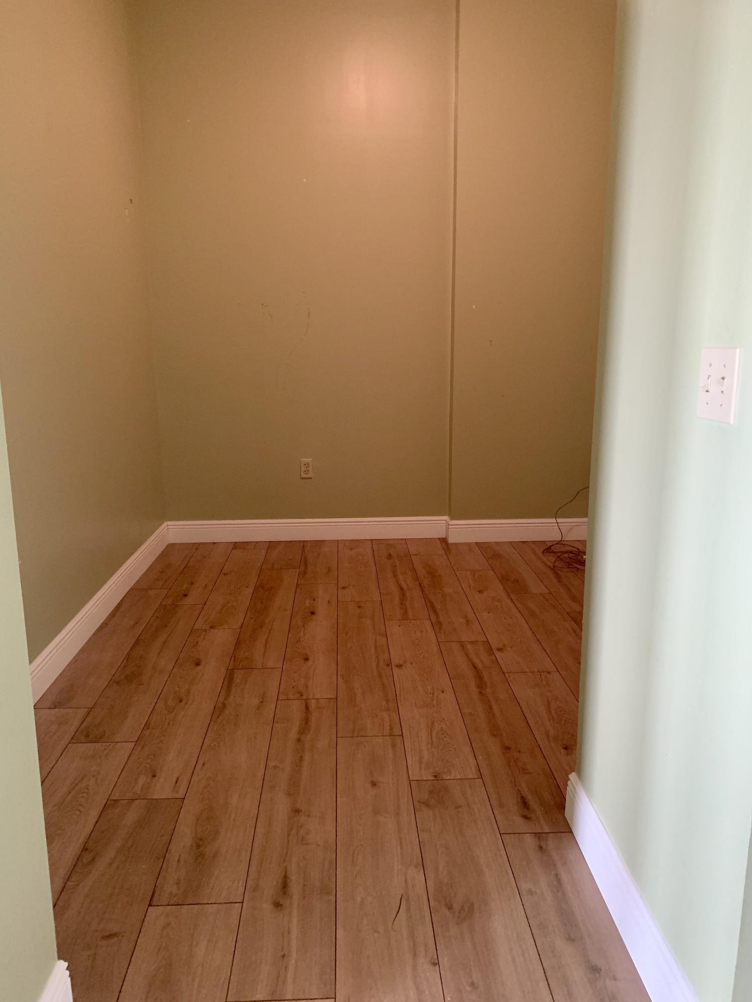 Flex room after new flooring