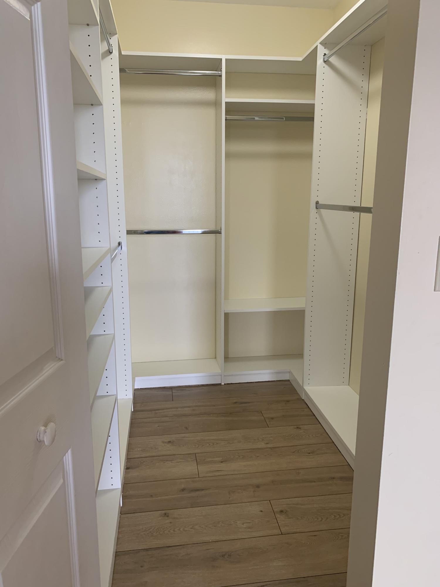 Primary Walk In closet-new flooring