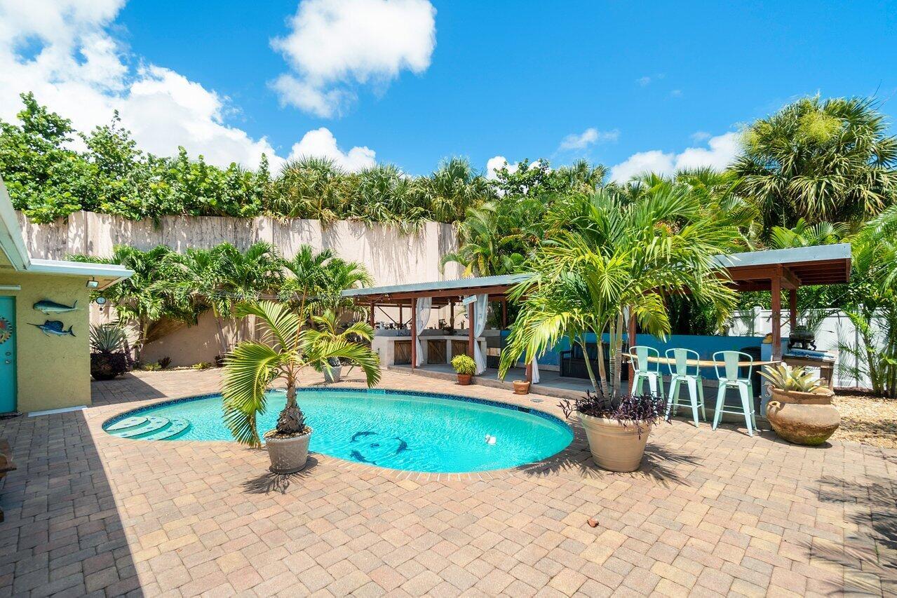 Tropical Oasis Pool Area