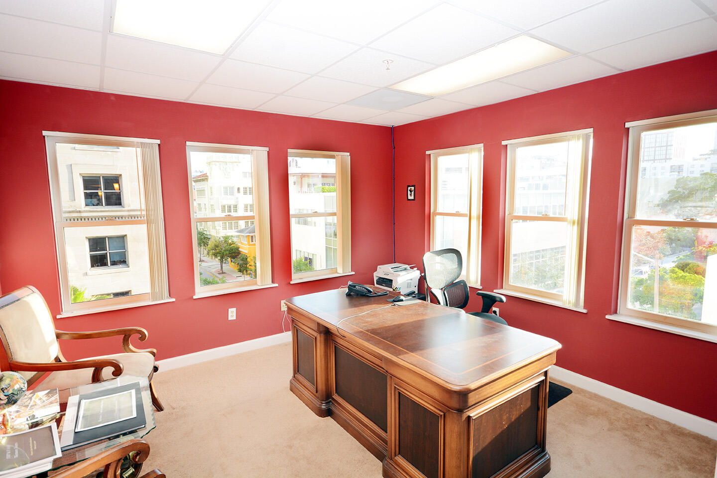 Executive Office Blinds Open