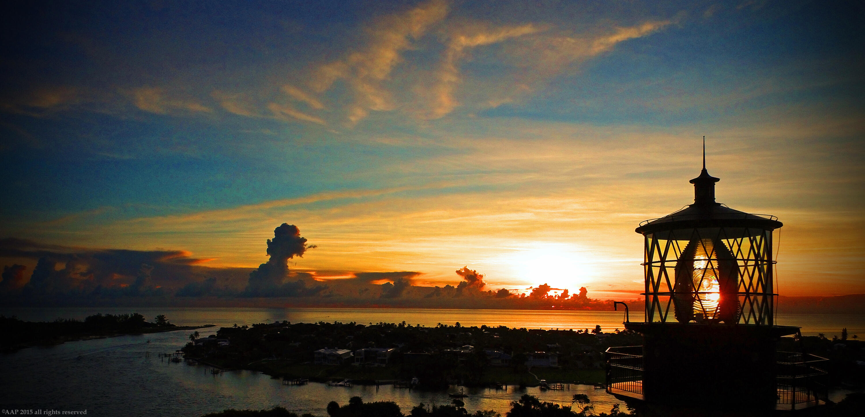 Jupiter Lighthouse sunrise aerial 2015 A