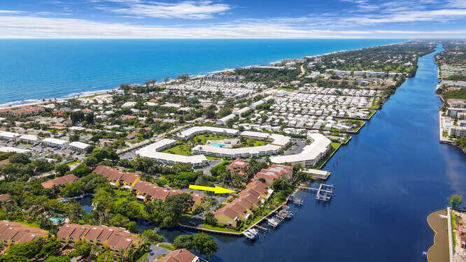 Aerial Intracoastal South and Ocean.