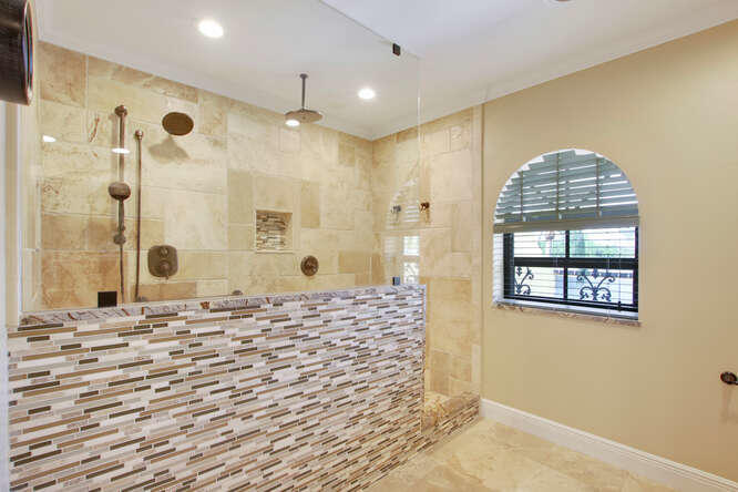Owners Bathroom Walk In Shower