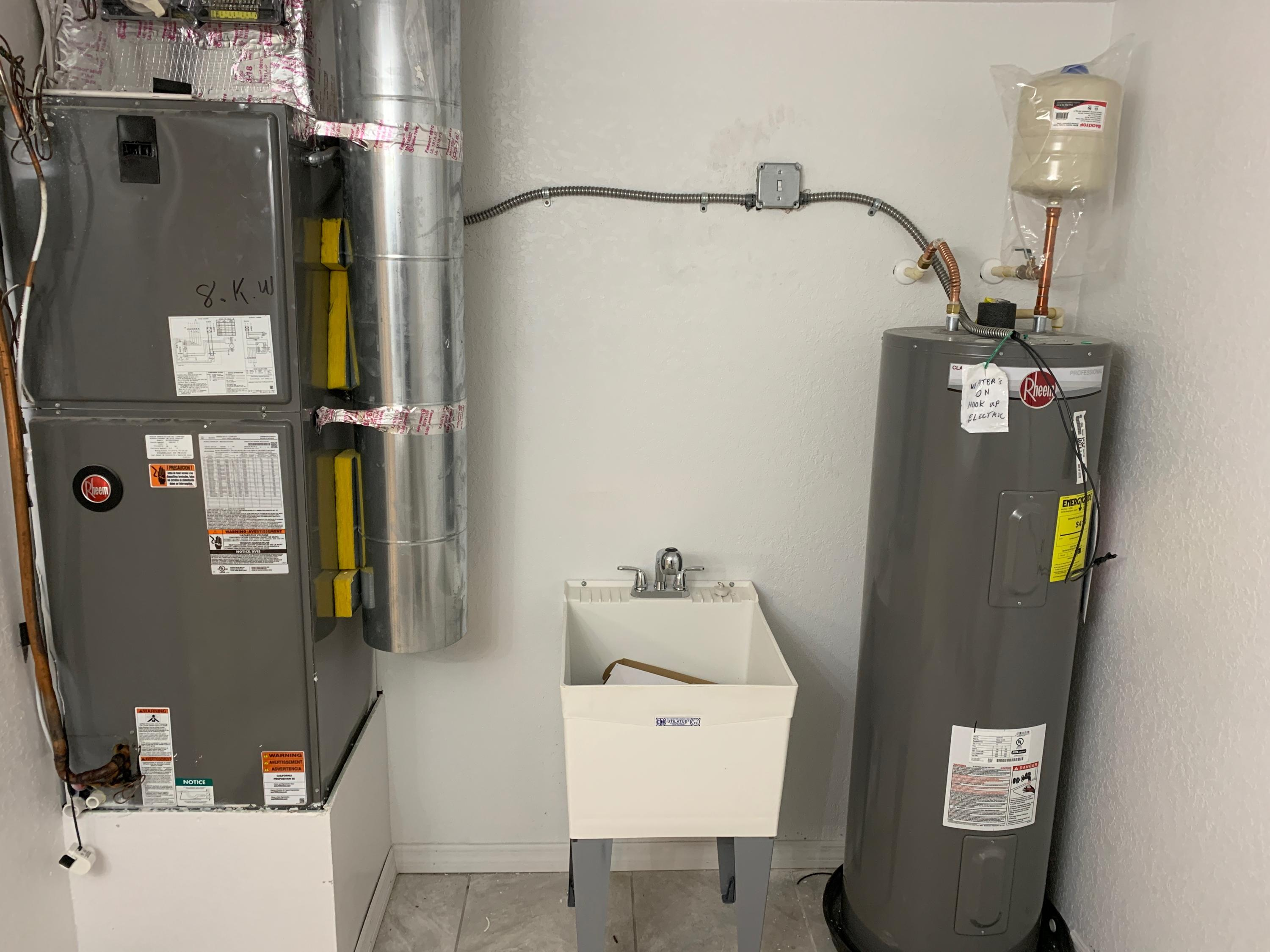 1708 new hvac and water heater