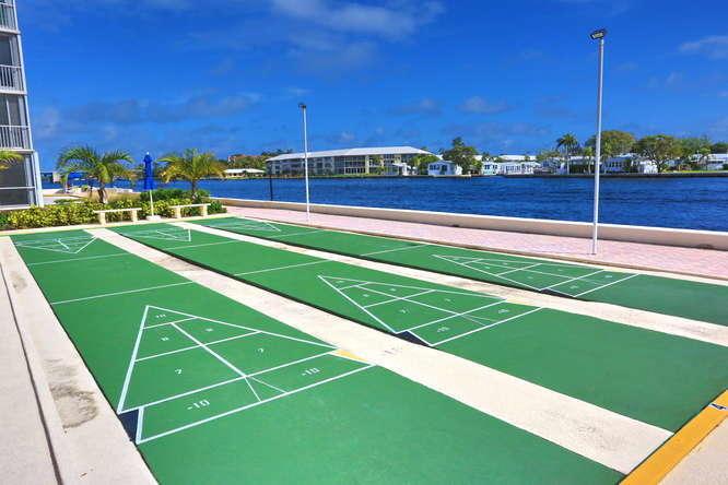 27 Shuffleboard Courts Looking North