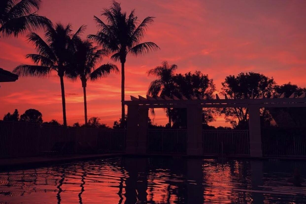 8 Main Pool Sunset
