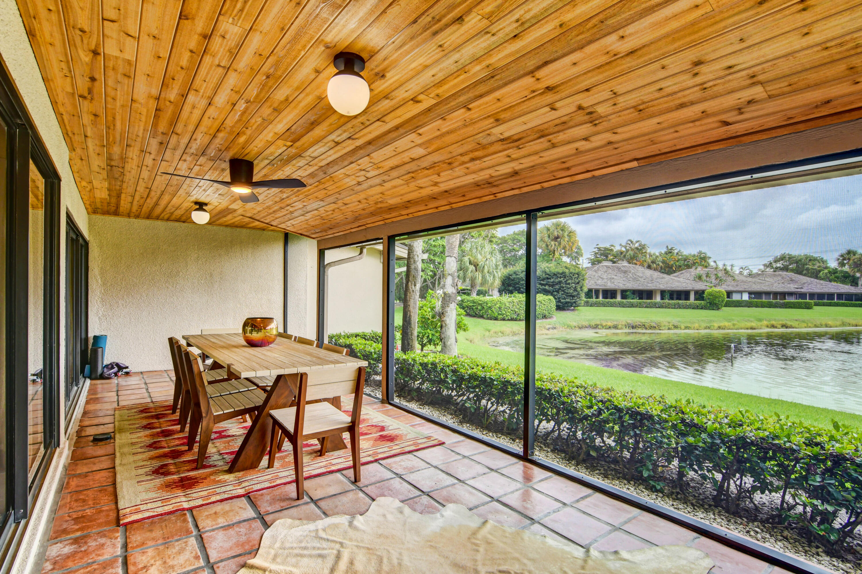 Rear, screened, covered patio