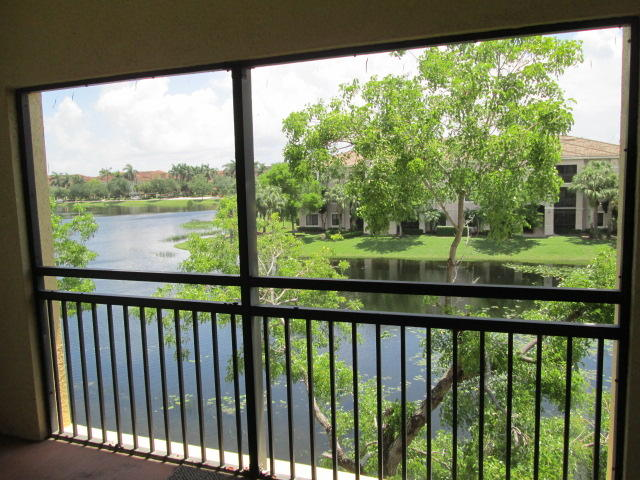 Peaceful water view from your balcony on the top floor of this 1 bedroom condo in the heart of Palm Beach Gardens! High ceilings, bar counter in kitchen, plus separate dining area, carpeted living areas,. 1st, Last & Security Deposit required, all tenants must apply to Coldwell Banker screening process. San Matera application online.