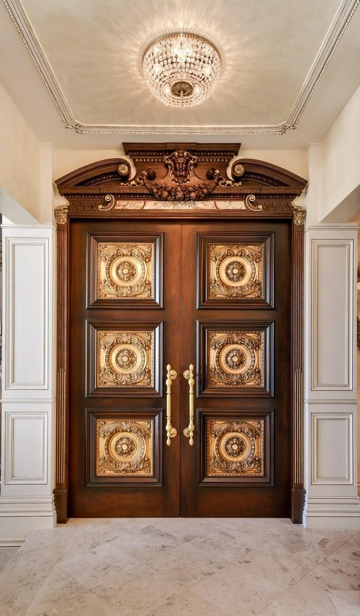 Immense Carved Doors to Library