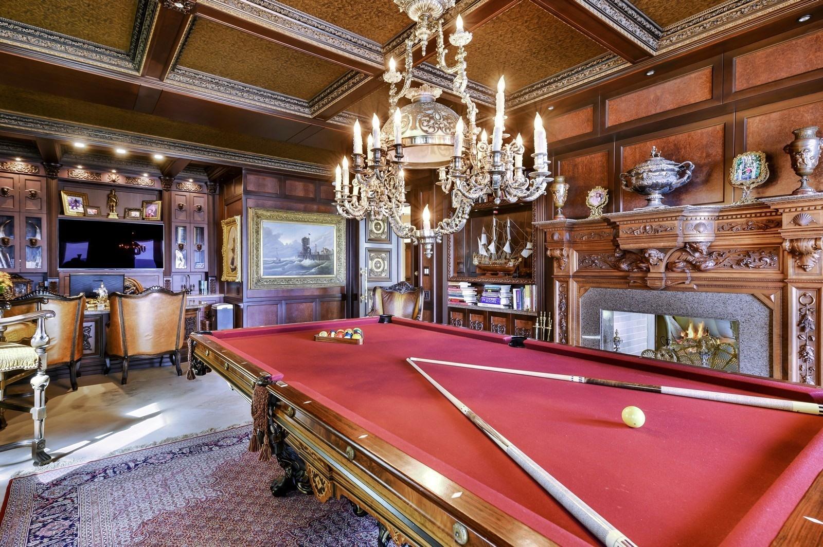 Billiards Salon in Office/Library
