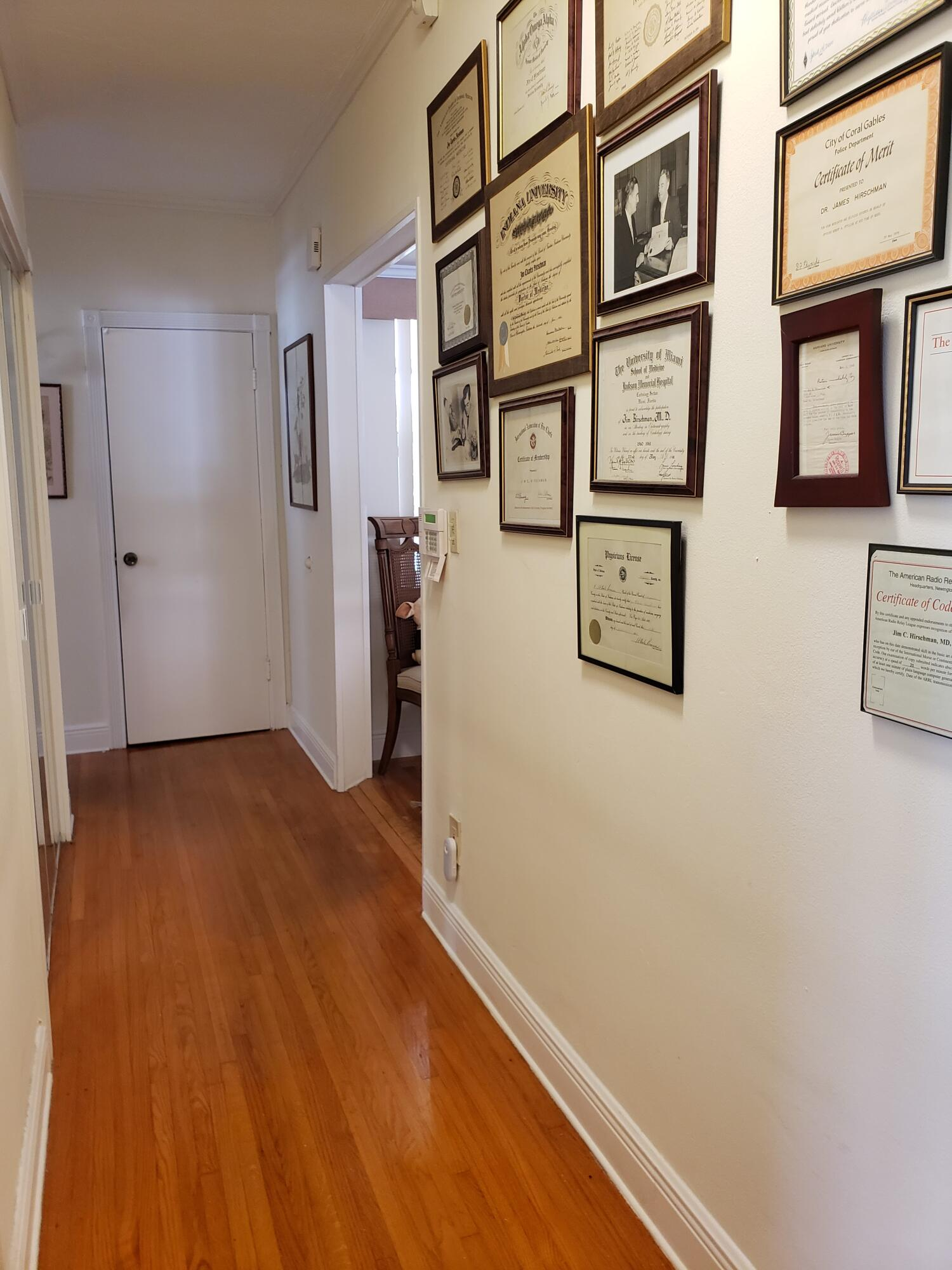 Hallway to other bedrooms