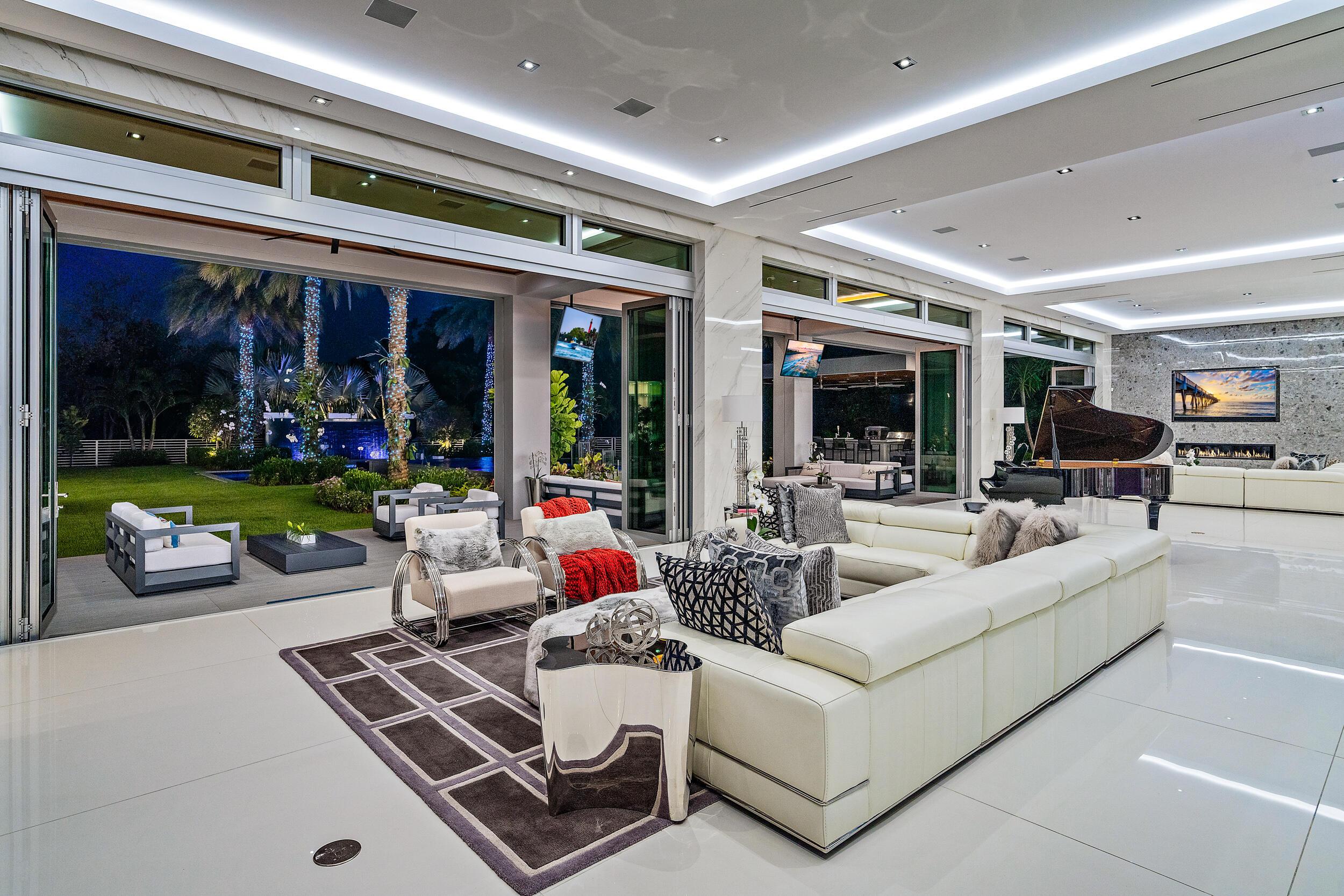 Twilight living room