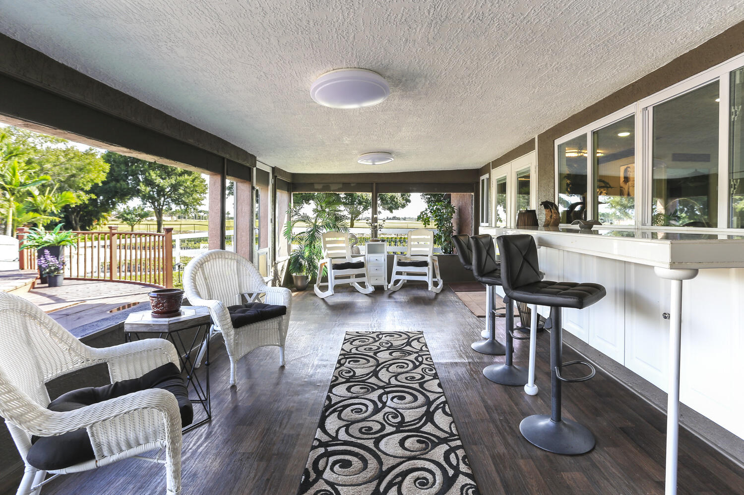 Screened and Covered Patio