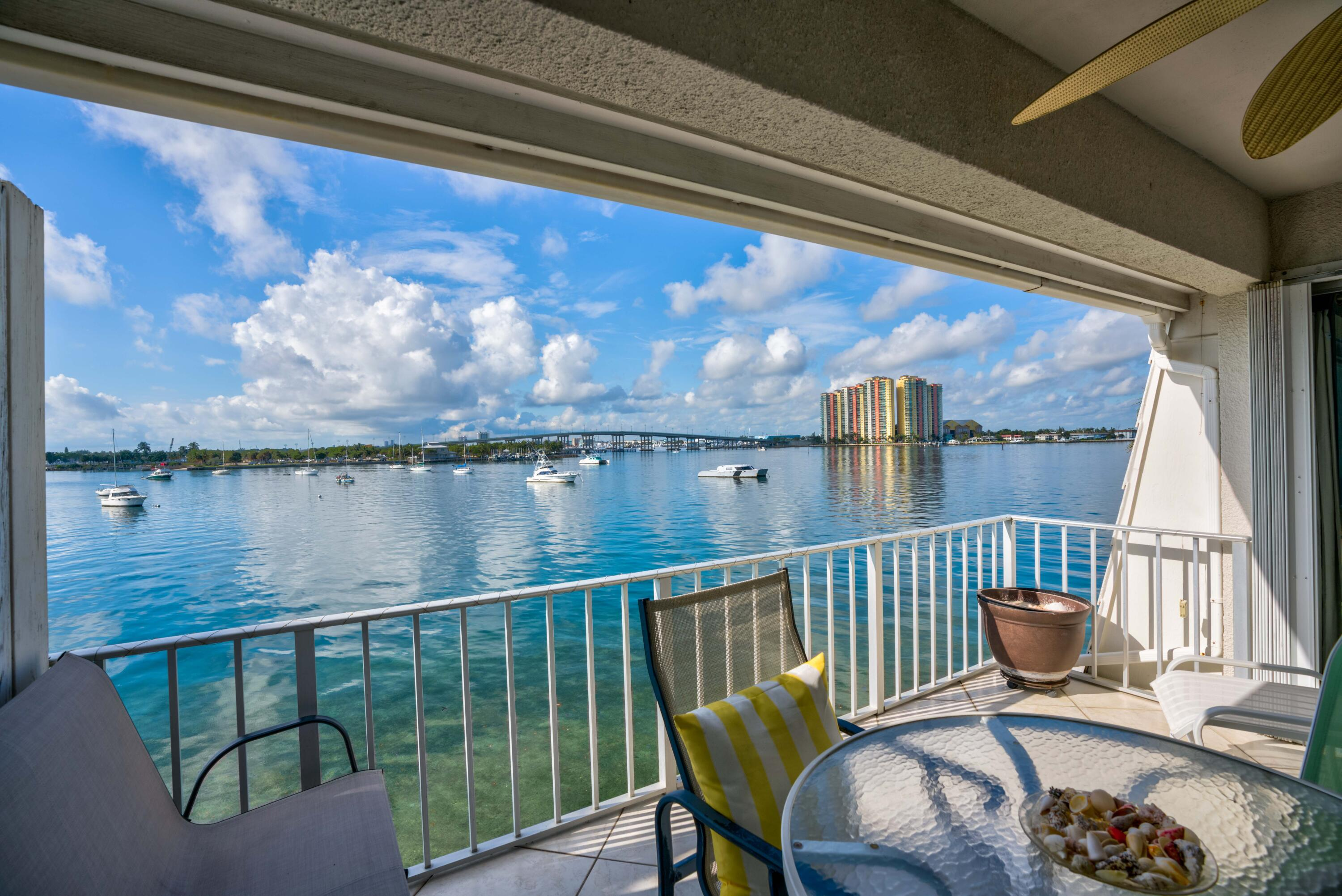 WOW,WOW, WOW, UNOBSTRUCTED VIEWS OVER LOOKING THE INTRACOASTAL WATERWAYS ,WATCH THE BOATS PASS BY FROM YOUR OPEN BALCONY.25 FOOT BOAT SLIP IS INCLUDED WITH THIS SALE. ALL TILE FLOORS, SOME UPGRADES IN 2 BEDROOMS,2 BATH UNIT,CLEAN ,BRIGHT AND CHEERFUL. PRESENTLY RENTED UNTIL 8/31/22 @ $ 2500.00 PER MONTH,NET $ 20,000.00 PER YEAR ,GREAT INVESTMENT WHILE WAITING TO MOVE IN.OLYMPIC SIZE SWIMMING POOL,TENNIS COURTS ,BBQ AREA,CLUBHOUSE,SHUFFLE BOARD, 55 AND OVER VERY ACTIVE COMMUNITY. ASSIGNED PARKING.0WNER WILL FINANCE WITH 25 % DOWN