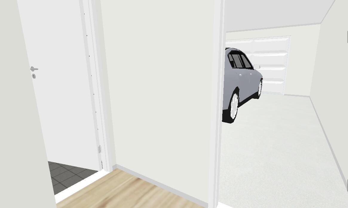 Garage towards laundry room