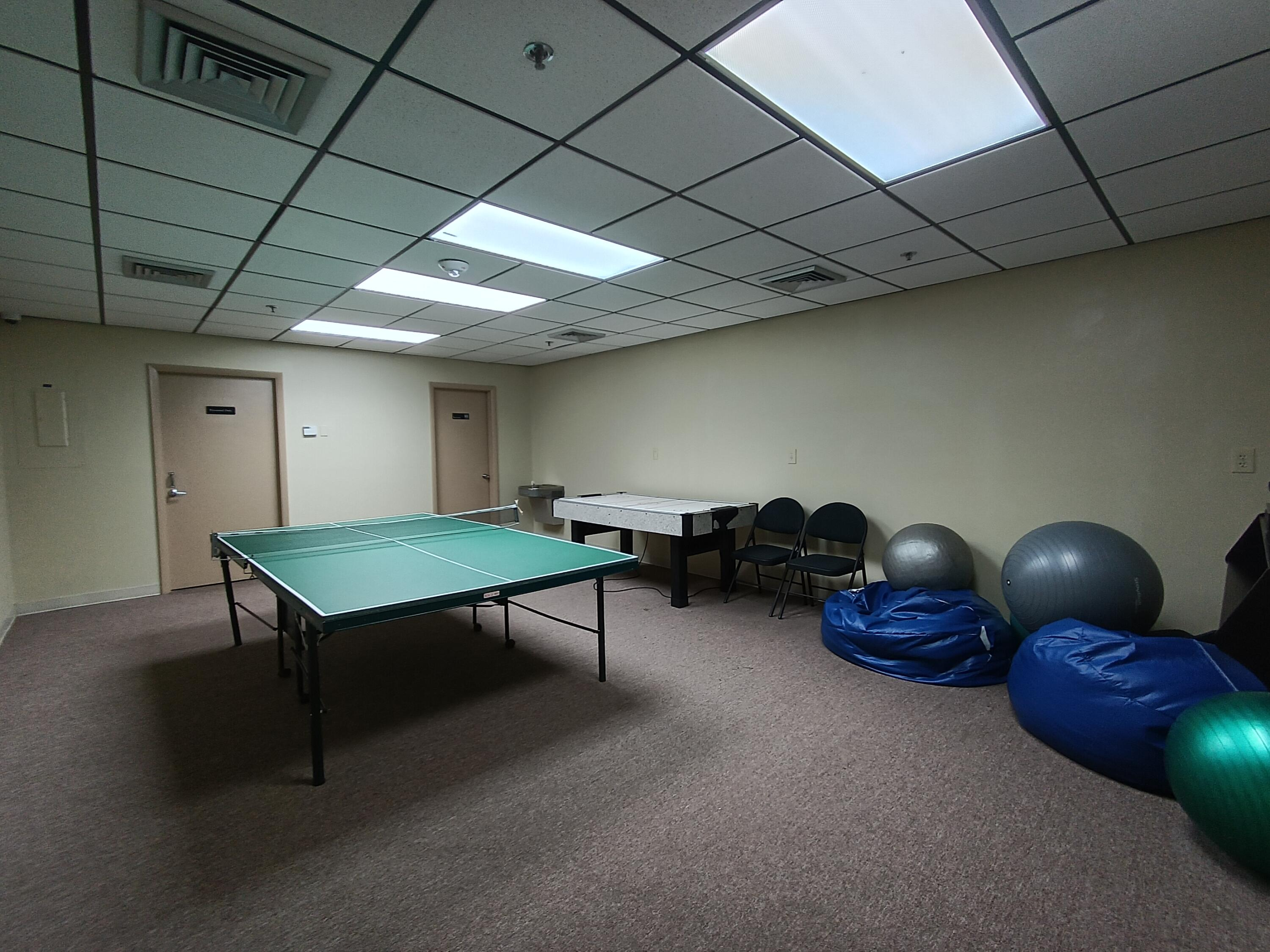 Ping-pong room