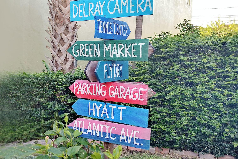 Atlantic Ave Delray Beach Sign
