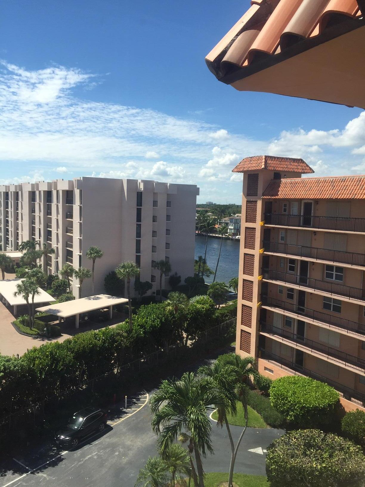 INTRACOASTAL VIEW THROUGH BUILDINGS FROM