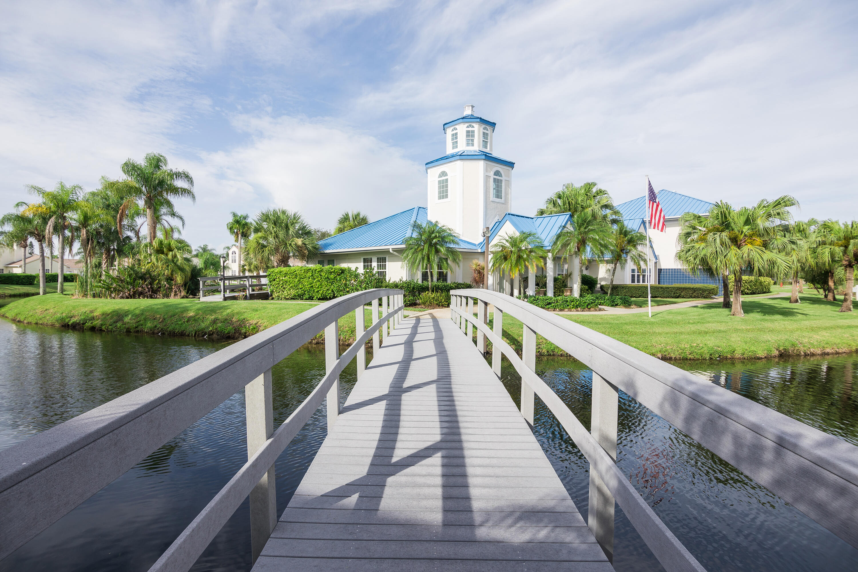 A Bridge to the Island Clubhouse