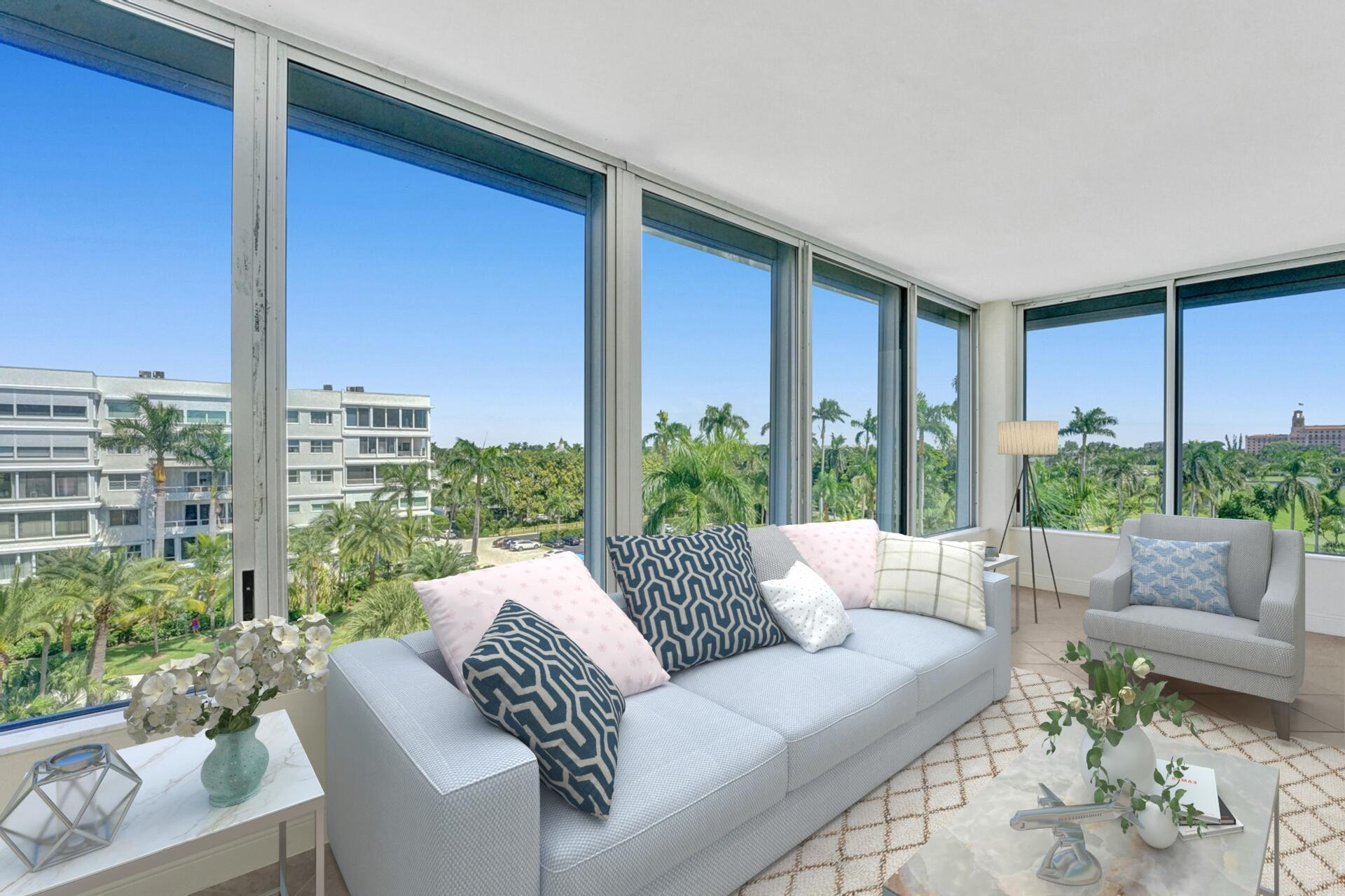 Beautifully appointed high floor 1 BR 1 BA has been tastefully reimagined with beautiful built ins and tons of closet space. This rare jewel affords elegance and utility. In unit washer/dryer and lovely treetop views enhance this very unique offering. Move-in perfection!