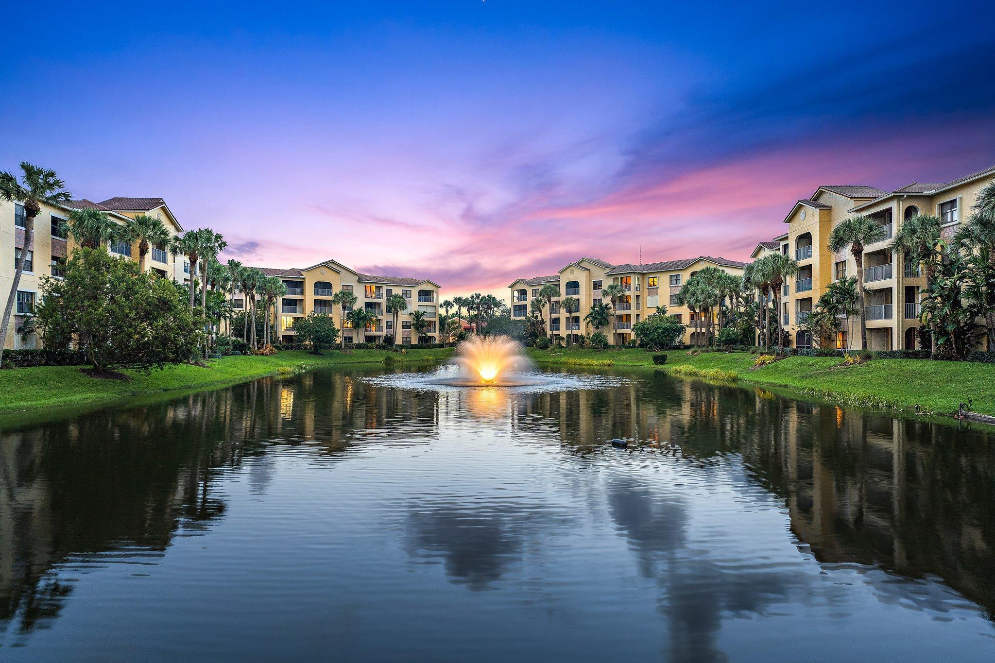 Gated community with resort style amenities including 2 pools, hot tub, clubhouse, billiards, fitness center all located close to beach, great restaurants and shopping. Incredibly located and close to beaches, shopping, dining, I95 and Turnpike. Beautiful lake view off balcony and master. Rented until 4-30-2022.