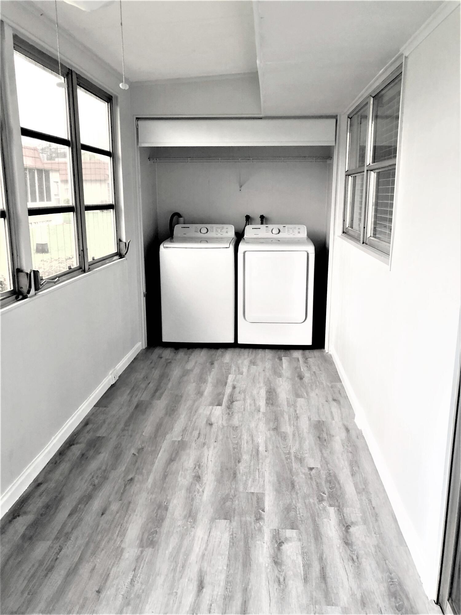 Laundry Area/Enclosed Patio
