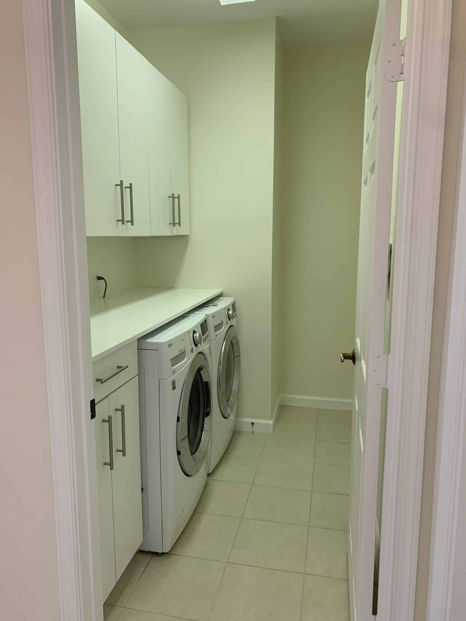 Laundry to right of entrance