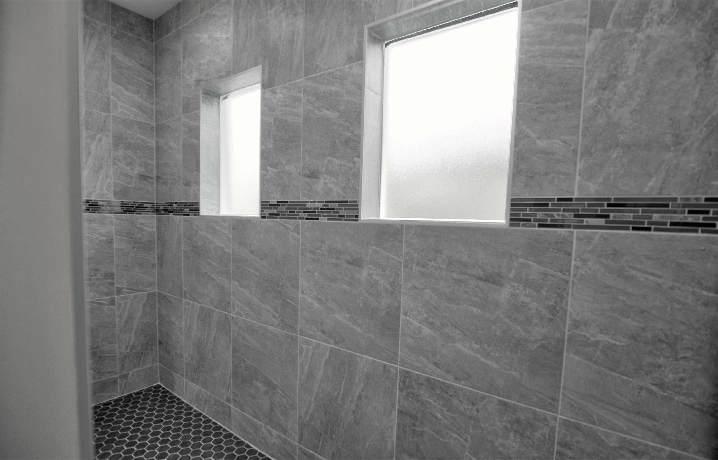 Master shower windows